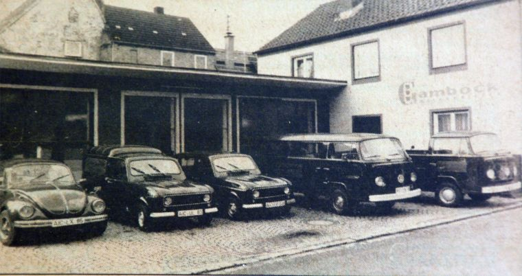 Historisches Bild vom Firmengelände